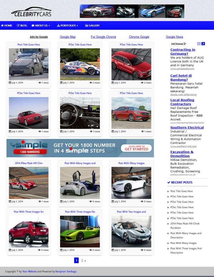 Premium Wallpaper Wordpress Theme V4