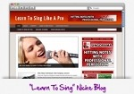 Learn To Sing Niche Blog Theme