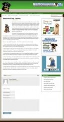 Dog Training Blog Theme - PLR