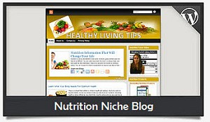 Nutrition Niche Blog Wordpress Theme