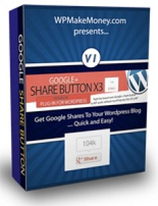 Google Share Button Wordpress Plugin